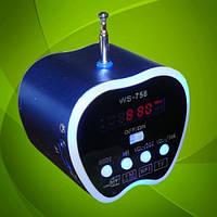 Портативная акустическая система (Mini Speaker) WS-758 с MP3-плеером и FM-радиоприемником, фото 1