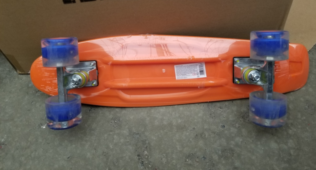 Скейт Penny Board 7620 Пенні борд, колеса ПУ, світяться, алюм.підвіска, подш ABEC-7, розмір 55-14,5 см