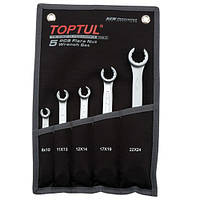 Набор ключей разрезных TOPTUL 5 шт. 8-24 мм (чехол) GPAQ0502