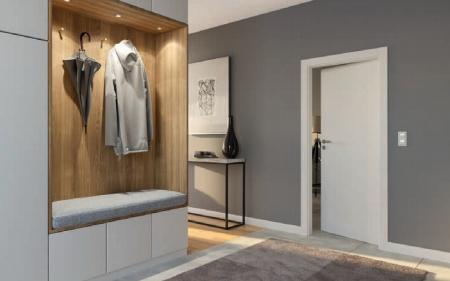 Міжкімнатні біла двері з регульованою коробкою PORTA Польща для квартир і офісів без наличників