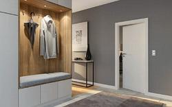 Межкомнатная белая дверь с регулируемой коробкой PORTA Польша для квартир и офисов без наличников