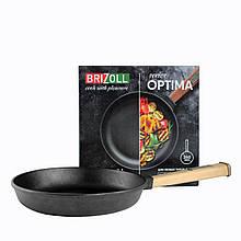 Сковорода чугунная тм brizoll 260х40 мм с ручкой optima