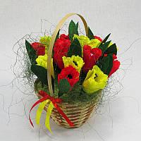 Букет из конфет Корзина тюльпанов 15 4131IT