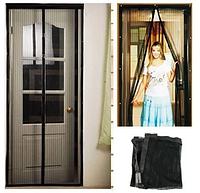 Москитная сетка Magic Mesh на Дверь окно балкон от Комаров Мух Бабочек Антимоскитная штора москитный Магик меш