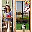 Москітна сітка Magic Mesh на Двері вікно балкон від Комарів, Мух Метеликів Антимоскітна штора москітний Магік меш, фото 8