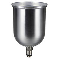 Бачок для краскопульта металлический (наружная резьба) 600 мл AUARITA PC-600GLG