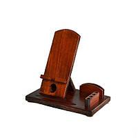 Деревянная подставка-органайзер для телефона Comfort (венге)