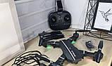 Складной квадрокоптер-трансформер с камерой RC 8807 HD WiFi Портативный Легкоуправляемый дрон, фото 5