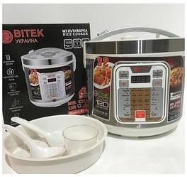 Мультиварка BITEK Німеччина містить 32 програми (скороварка, пароварка, рисоварка, йогуртниця)