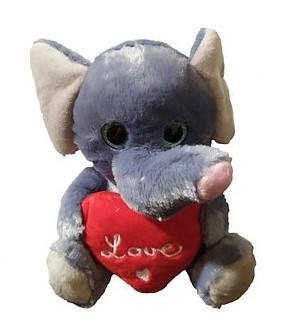 Мягкая игрушка Слоник с сердечком Melinera 0863