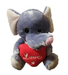 М'яка іграшка Слоник з сердечком Melinera 0863