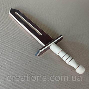 Дерев'яний декоративний ігровий меч 34 см