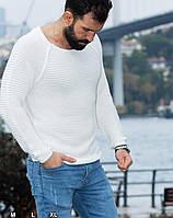 Модный свитшот вязка белого цвета S