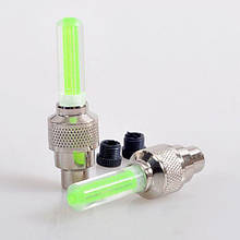 Светящиеся колпачки для ниппеля на колеса Fireflys (зеленые) светодиодная подсветка колес (ковпачки) 2шт./уп.