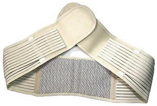 Пояс для поясницы. Используется и как,пояс для поддержки спины.Турмалиновый, бежевый.До 110 см.