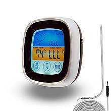 Термометр электронный с выносным датчиком, электронный градусник для мяса с выносным щупом и таймером