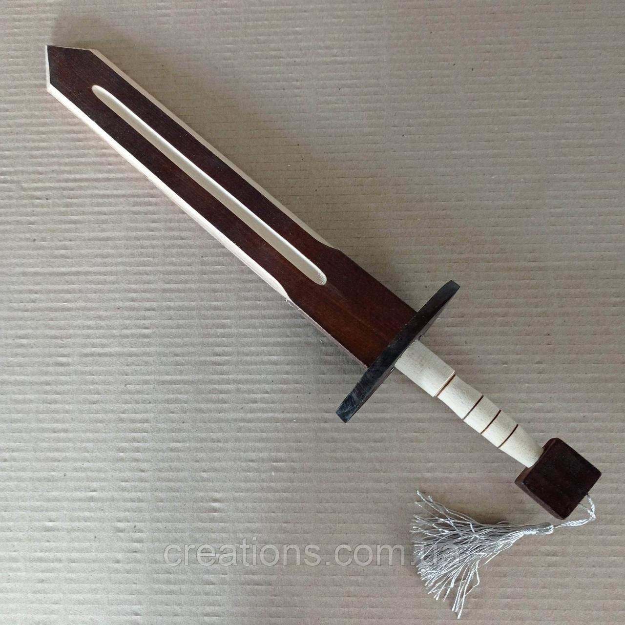 Дерев'яний декоративний ігровий дитячий меч 45 см