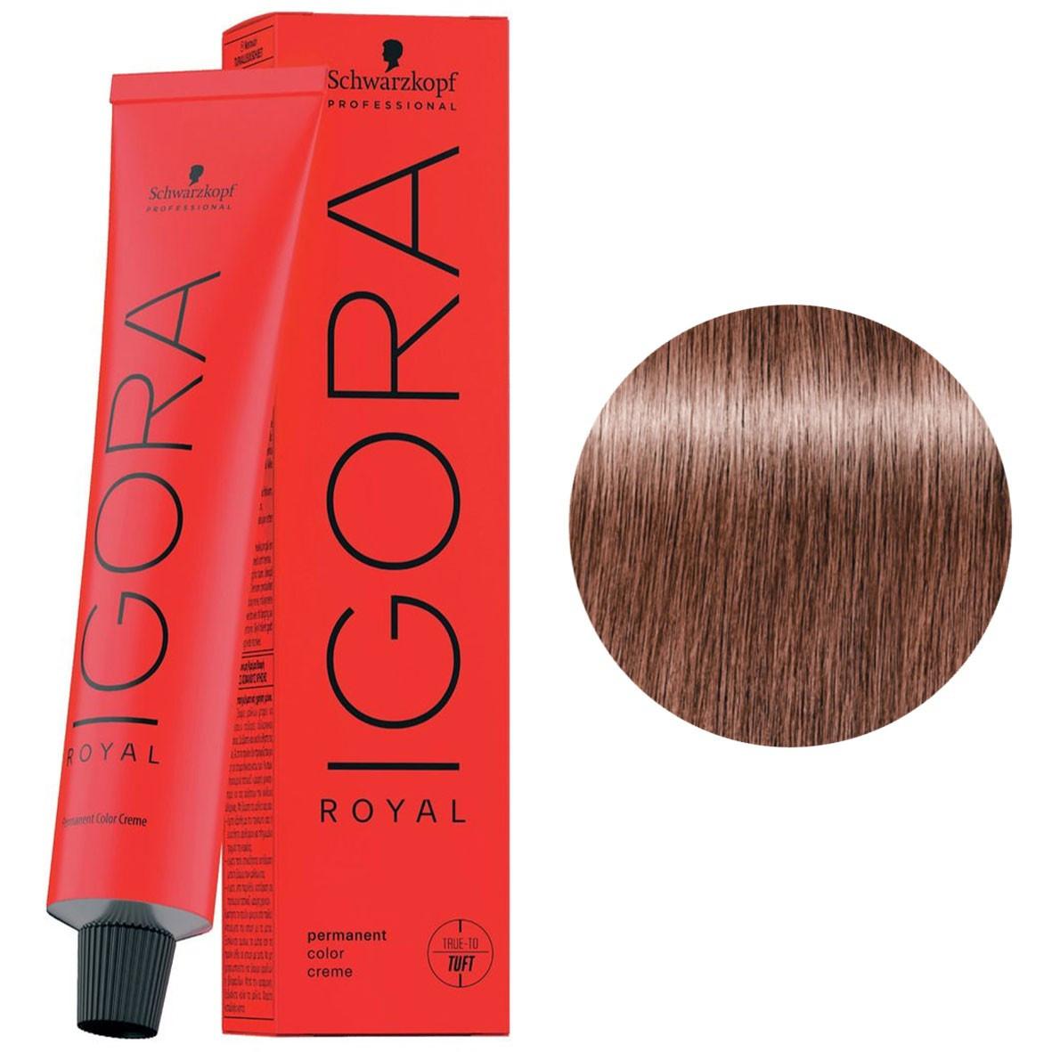 Фарба для волосся 8-84 Schwarzkopf Igora Royal світло-русявий червоний бежевий 60 мл