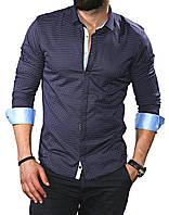Рубашка длинный рукав с принтом S