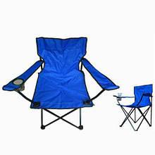 """Складаний стілець, кемпінговий, """"Павук"""", з підсклянником, колір - синій"""