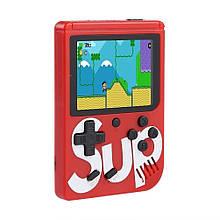 Портативная ретро консоль Retro Gamebox Sup 400 in 1 денди приставка игровая 8 бит Красная (Game Box 400in1)