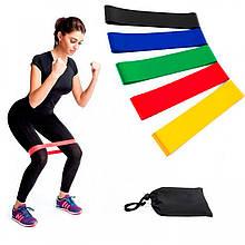 Набор резинки для фитнеса Fitness, резиновый ленточный эспандер для тренировок (резиновые петли) (5 шт./уп.)