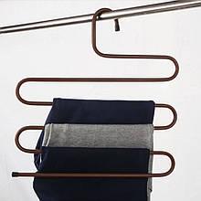 Многофункциональная вешалка для одежды, брюк, полотенец Коричневая, (вішалка для одягу) с доставкой