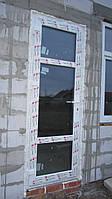 Пластиковая дверь на террасу 790х2200мм REHAU Ecosol-Design 70 с Энергосберегающим стеклопакетом.