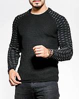 Черный свитшот с дизайнерскими рукавами S, M