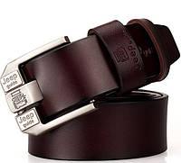 Мужской кожаный ремень. Высокое качество. Удобный в пользовании. Код: КСМ44