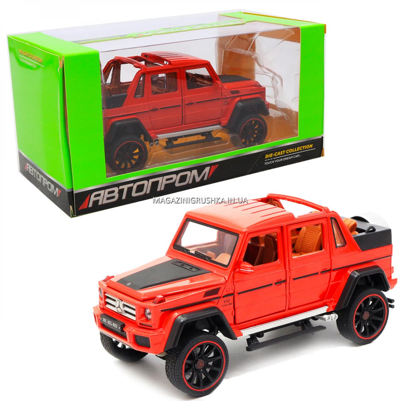 Іграшкова машинка Мерседес-Бенц «Автопром», червоний, світлові і звукові ефекти, 21*10*9 см (7579)