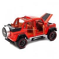 Іграшкова машинка Мерседес-Бенц «Автопром», червоний, світлові і звукові ефекти, 21*10*9 см (7579), фото 4