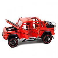 Іграшкова машинка Мерседес-Бенц «Автопром», червоний, світлові і звукові ефекти, 21*10*9 см (7579), фото 5