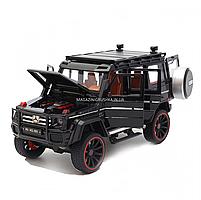 Игрушечная машинка металлическая Mercedes-Benz «Автопром», черный Гелендваген, Гелик, 21*11*10 см, (7578), фото 4