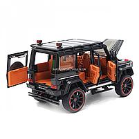 Игрушечная машинка металлическая Mercedes-Benz «Автопром», черный Гелендваген, Гелик, 21*11*10 см, (7578), фото 5
