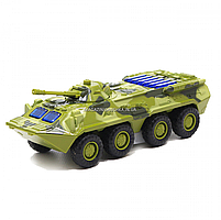Іграшкова машинка металева «БРДМ», Автопром, зелений, від 3 років, 5*13*5 см, (6409), фото 3
