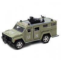 Игрушечная машинка металлическая «Военная техника», Автопром, светло-зеленый, от 3 лет, 7*15*6 см, (6623), фото 2