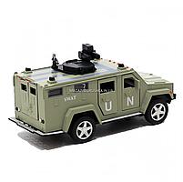 Игрушечная машинка металлическая «Военная техника», Автопром, светло-зеленый, от 3 лет, 7*15*6 см, (6623), фото 3