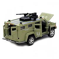 Игрушечная машинка металлическая «Военная техника», Автопром, светло-зеленый, от 3 лет, 7*15*6 см, (6623), фото 4