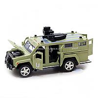 Игрушечная машинка металлическая «Военная техника», Автопром, светло-зеленый, от 3 лет, 7*15*6 см, (6623), фото 5