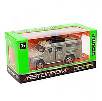 Игрушечная машинка металлическая «Военная техника», Автопром, светло-зеленый, от 3 лет, 7*15*6 см, (6623), фото 6
