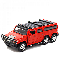 Іграшкова машинка металева джип «Hummer», Автопром, червоний, 6*16*6 см, від 3 років, (6618), фото 2