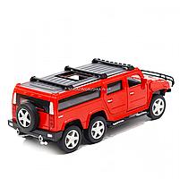Іграшкова машинка металева джип «Hummer», Автопром, червоний, 6*16*6 см, від 3 років, (6618), фото 3