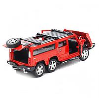 Іграшкова машинка металева джип «Hummer», Автопром, червоний, 6*16*6 см, від 3 років, (6618), фото 4