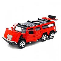 Іграшкова машинка металева джип «Hummer», Автопром, червоний, 6*16*6 см, від 3 років, (6618), фото 5