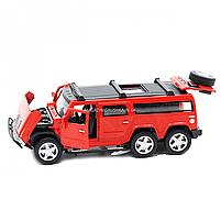 Іграшкова машинка металева джип «Hummer», Автопром, червоний, 6*16*6 см, від 3 років, (6618), фото 6
