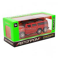 Іграшкова машинка металева джип «Hummer», Автопром, червоний, 6*16*6 см, від 3 років, (6618), фото 7