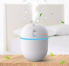 Портативный ультразвуковой увлажнитель воздуха (Humidifier, белый) детский маленький увлажнитель для дома
