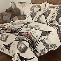 Комплект постільної білизни євро розмір 200/220 см,простирадло 200/220 см,нав-ки 70/70,тканина сатин 100% бавовна