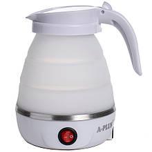 Дорожный силиконовый Электро-чайник А-Плюс WDL-09B 600 мл (Белый) маленький электрический (чайник електричний)